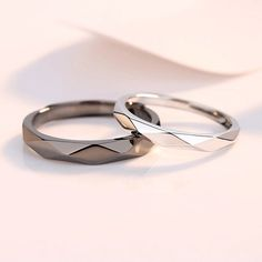 Matching Couple Rings, Matching Promise Rings, Wedding Rings Sets His And Hers, Matching Wedding Rings, Rings For Her, Matching Jewelry For Couples, Wedding Band Sets, Diamond Wedding Bands, Promise Rings For Couples