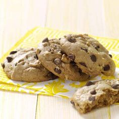 "Vegan Chocolate Chip Cookies - ""A busy competitive figure skater came up with this high-energy recipe herself. The cookies are loaded with nuts, chips and fabulous flavor. Coaches at her skating rink are always snitching two or three when she brings them in!"" —Cassandraa Brzycki"
