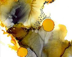 Honey Trap - A4 Alcohol Ink Art Print #abstractart