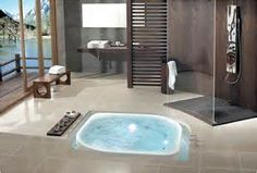 I love the tub in the floor design.