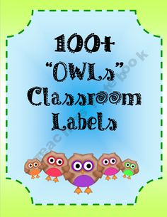 - Free Owl Classroom Labels