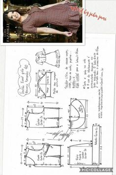 T Shirt Sewing Pattern, Pattern Drafting, Dress Sewing Patterns, Clothing Patterns, Fashion Sewing, Diy Fashion, Sewing Clothes, Diy Clothes, Sewing Tutorials