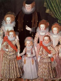 1605 English School - The Tasburgh Group (Lettice Cressy Lady Tasburgh of Bodney, Norfolk and Her Children)