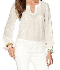Lilly Pulitzer Colby Pintuck Top