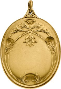 Art Nouveau Diamond, Gold Pendant-Locket, Boucheron Paris, 1902