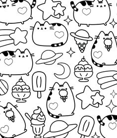 cb pusheen pusheen catcat partycoloring pagescoloring bookscolouringcolor