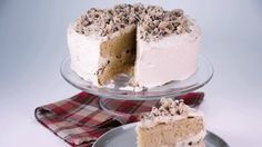 Carla Hall Choco Chip Cookie Dough Layer Cake If you are searching for a dessert that will wow family and friends, look no further than Carla Hall Choco Chip Cookie Dough Layer Cake. This amazing dessert even has cookie dough on top. You will definitely be the talk of the town with this cake.