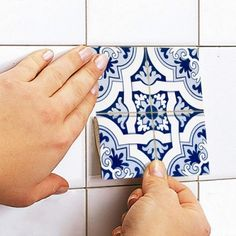 Portuguese Tiles Azulejos Stickers for covering ceramic tile Mehr Tile Decals, Wall Tiles, Cement Tiles, Subway Tiles, Mosaic Tiles, Tile Edge, The Tile Shop, Portuguese Tiles, Turkish Tiles