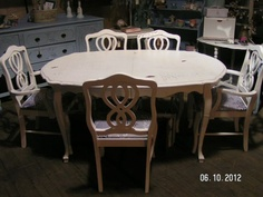 SHABBY VINTAGE FRENCH TABLE ~ West Bottoms