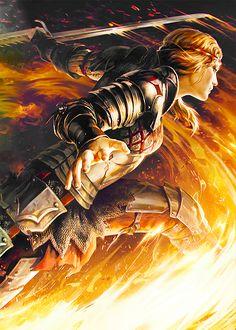 """yocalio: """"""""Gwent: Scoiatael - Saskia the Dragonslayer """" """""""