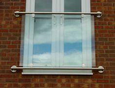 Stainless Steel Glass Juliet Balcony - Modern Style