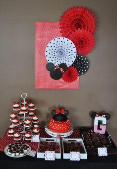 Minnie Mouse Party Dessert Buffet