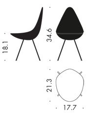 Drop chair 1958 / 2014| Arne Jacobsen