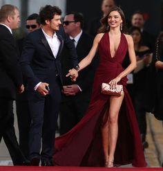 Want her dress. Miranda Kerr and Orlando Bloom