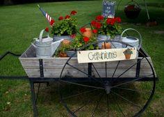 Fun and flowery Flea Market flower carts Debbie McMurry's summer themed flower cart