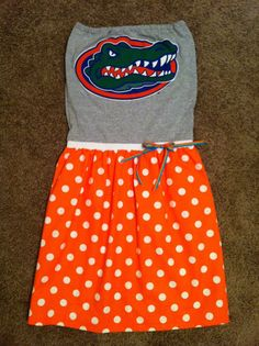 Florida Gators Tshirt Spring Break Dress by GoesAroundComesAroun, $22.00