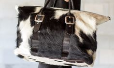 Cowgirl Travel: The Cowhide Duffle Bag
