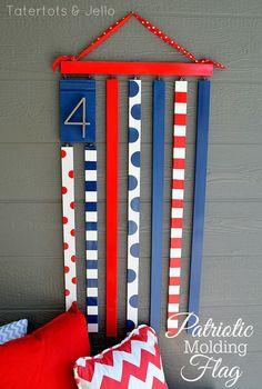 Make a Patriotic Molding Flag!! #DIY #LowesCreator