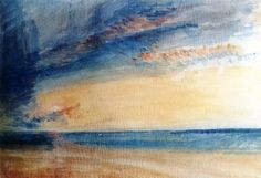 Low Sun and Clouds over a Calm Sea, 1835 - Joseph Mallord William Turner - The Athenaeum