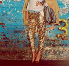 I want to recreate these sequin glitter pants.