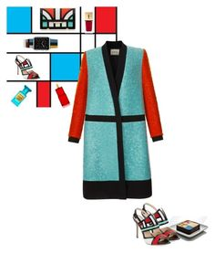 """""""Mondrian mood"""" by theitalianglam ❤ liked on Polyvore featuring Yves Saint Laurent, Aperlaï, FAUSTO PUGLISI, Cartier, David Jones and Casetify"""
