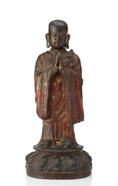 Buddhist monk in patinated bronze. Buddhist Monk, Buddhist Art, Chinese Dragon, Chinese Art, China Today, Ancient China, Sacred Art, Antiquities, Stone Art