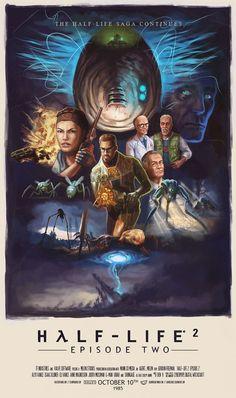 #HalfLife Episode 2 via Reddit user Chewbacker as an 80's poster