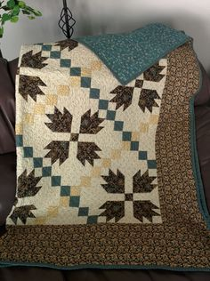 Bear Paw Quilt.  Made this for myself! May be my all time favorite...(2013)