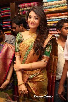 Kajal Aggarwal in saree   Veethi