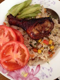 Nasi Kip / Fried rice with BBQ Chicken / Suriname Food