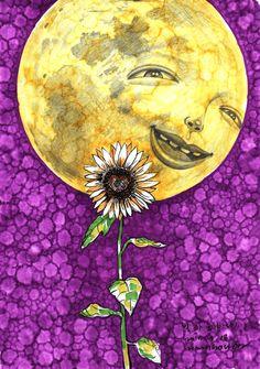 달은  자신에게 빛의 기운을 주는 해를 사랑합니다  그러나 해는  영원히 만날 수 없는 존재입니다  달은 어두운 밤 해같은 얼굴을 드러 낸 해바라기를 보았습니다 첫눈에 반한 달은  밤마다 속삭입니다  해바라기야~~~  날 좀 봐줄 수 없겠니... 날 좀 봐줄 수 없겠니.....  그러나 달의 구애를 받는  해바라기는 밤마다 기원합니다  어두운 밤하늘에 저 달이  사라졌으면.....  저 달이 없으면  늘 햇님을 볼수 있을텐데.... http://blog.naver.com/nam5050/220484910994