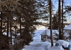 Lakeside get away Maine Real Estate, Lakeside Living, Rocky Shore, Bangor, Cabins, Winter Wonderland, Cottages, Paradise, Relax