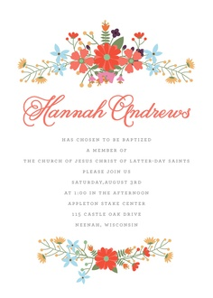 Flora baptism invitations by Remarkable