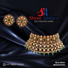 Take a dekko at this sublime choker set crafted using 92.5 silver and emblazoned with sparkling Moissanites from Shree Ambica - Your Trusted Silver Jewellers. Pick this for the upcoming festive/wedding season. Readily available in stock For Price and Details Message on - +919866110500 #ShreeAmbica #tustedJewellers #SilverJewellery #indianbride #indianwedding #jewelryaddict #handcraftedjewellery #finejewellery #weddingsutra #jewelryforsale #jewelryswag #jewelrygoals #musthave Silver Jewelry, Fine Jewelry, Wedding Sutra, Wedding Season, Handcrafted Jewelry, Must Haves, Chokers, Take That, Jewels
