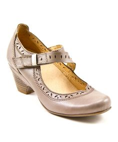 Love this Light Gray Lindo Leather Pump by Taos Footwear on #zulily! #zulilyfinds