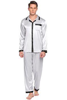 c6cfac5752 MAXMODA Mens Luxury Patchwork Satin Pajamas Set Sleepwear Loungewear S XL  Satin Pyjama Set
