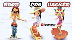 NOOB vs PRO vs HACKER - Subway Surfers Amsterdam 2020 Part 3 | Pew Runner Subway Surfers, Mario Kart, Amsterdam, Family Guy, Griffins