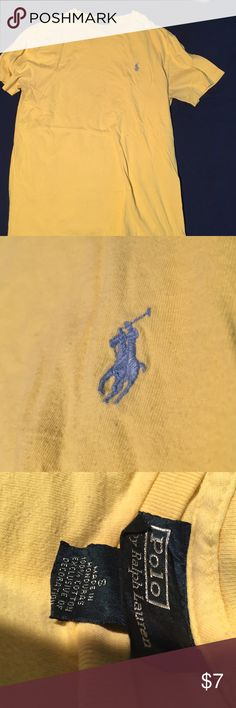 Small yellow polo t shirt Small yellow polo t shirt! Great quality and comfort. Nice shirt to brighten up any wardrobe! (It's not a neon yellow, more of a pastel yellow) Polo by Ralph Lauren Shirts Tees - Short Sleeve