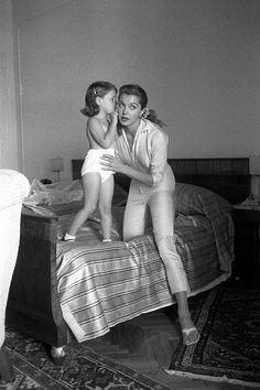 Esther Williams and her daughter, Susan.
