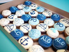 Yachting birthday cupcakes
