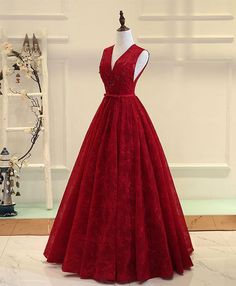 Cheap Fetching Lace Prom Dresses, Burgundy Prom Dresses, Long Prom Dresses On Sale Delightful Burgundy Prom Dresses, Burgundy V Neck Lace Long Prom Dress, Burgundy Evening Dress V Neck Prom Dresses, Cheap Bridesmaid Dresses, Homecoming Dresses, Quinceanera Dresses, Evening Dresses, Dress Prom, Party Dress, Long Formal Gowns, Formal Dresses