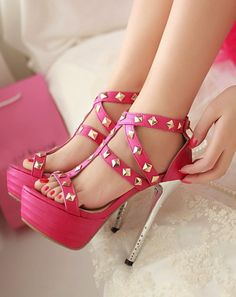 Gorgeous heels in rose pink