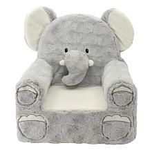 Animal Adventure Sweet Seats double as adorable room decor and as a super comfy pal. Rich fabrics, sweet embroidered expressions and a soft yet sturdy design make these character chairs ideal for kids ages 2 years and up. The assortment includes a dog, elephant, owl and bear. Each sold separately<B>. </B>This plush chair was made with all new materials and is surface washable. Remove all attachments from this chair before giving it to a child.<br><br>The Animal Adventure Sweet Seats Plush…