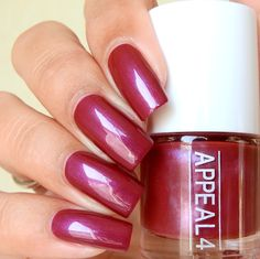 Appeal4 nail polish  No. 209 Nights in bourgogne  Www.appeal4.dk