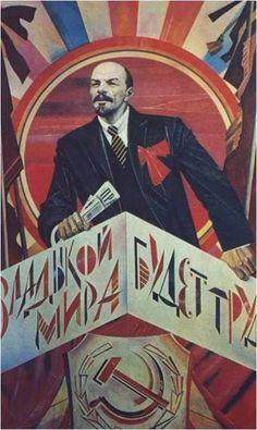 Soviet Poster With Lenin