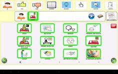 e-Mintza; aplicación que presenta un tablero de comunicación con pictogramas o imágenes y sonidos asociados que permiten una comunicación directa y sencilla. El tablero es fácilmente personalizable en cuanto a la lengua utilizada, textos, imágenes, vídeos o sonidos, en función de las necesidades del usuario. Google Play, Software, App, Texts, Scrappy Quilts, Communication Boards, Android Apps, Pictogram, Speech Language Therapy
