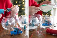 15 Dollar Store Christmas DIY Projects Anyone Can Do - The Krazy Coupon Lady These Christmas DIY projects are simple, gorgeous and cheap — thanks to the dollar store! Dollar Tree Christmas, Diy Christmas Gifts, Christmas Projects, Christmas Decorations, Christmas Ideas, Homemade Christmas, Holiday Decorating, Holiday Crafts, Decorating Ideas