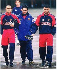 Luis Enrique, Mourinho, Guardiola en la seva etapa en el Barça