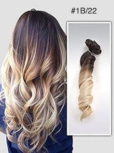 I just need to get my hair color to match that light brown! Brown to Blonde Ombre Balayage Indian Remy Clip in Hair Extensions - Vpfashion Ombre Hair Color, Hair Color Balayage, Blonde Balayage, Baylage Ombre, Haircolor, Brown To Blonde Ombre, Brunette To Blonde, Sandy Blonde, Ash Blonde
