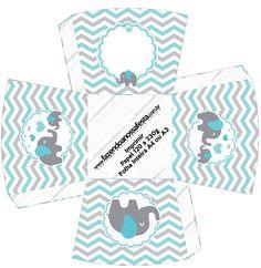 Chachepot Elefantinho Chevron Cinza e Azul Turquesa totalmente grátis, pronto para personalizar e imprimir em casa. Baby Shower Niño, Craft Images, Digital Scrapbook Paper, Decoration, Silhouette Projects, Diy And Crafts, Elephant, Teddy Bear, Clip Art